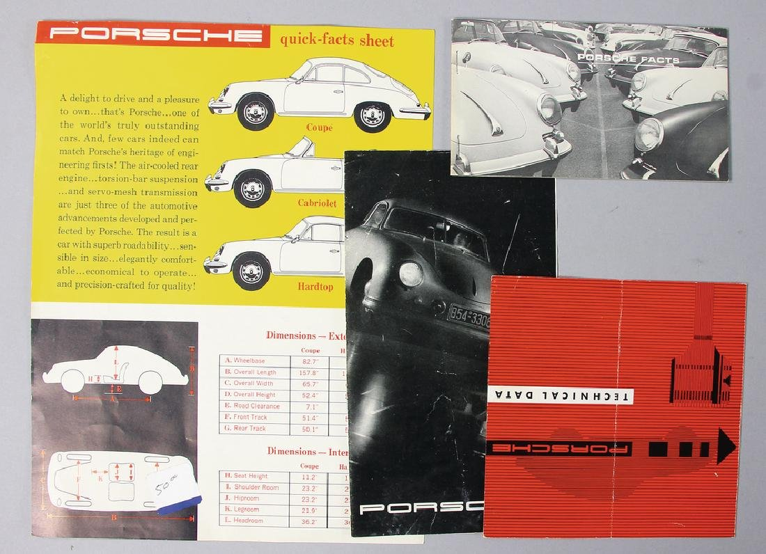 PORSCHE mixed lot with 4 pieces, consists of 4