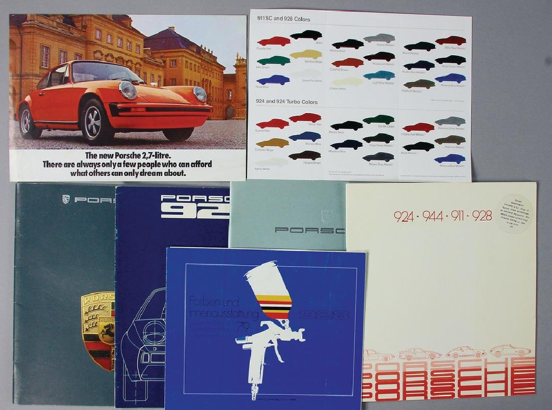 PORSCHE mixed lot with 7 pieces, sales