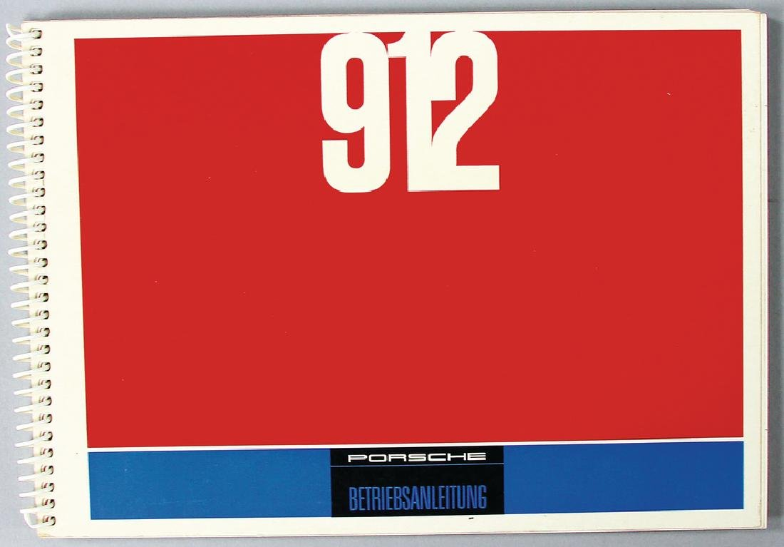 PORSCHE original operating instruction for Porsche 912,