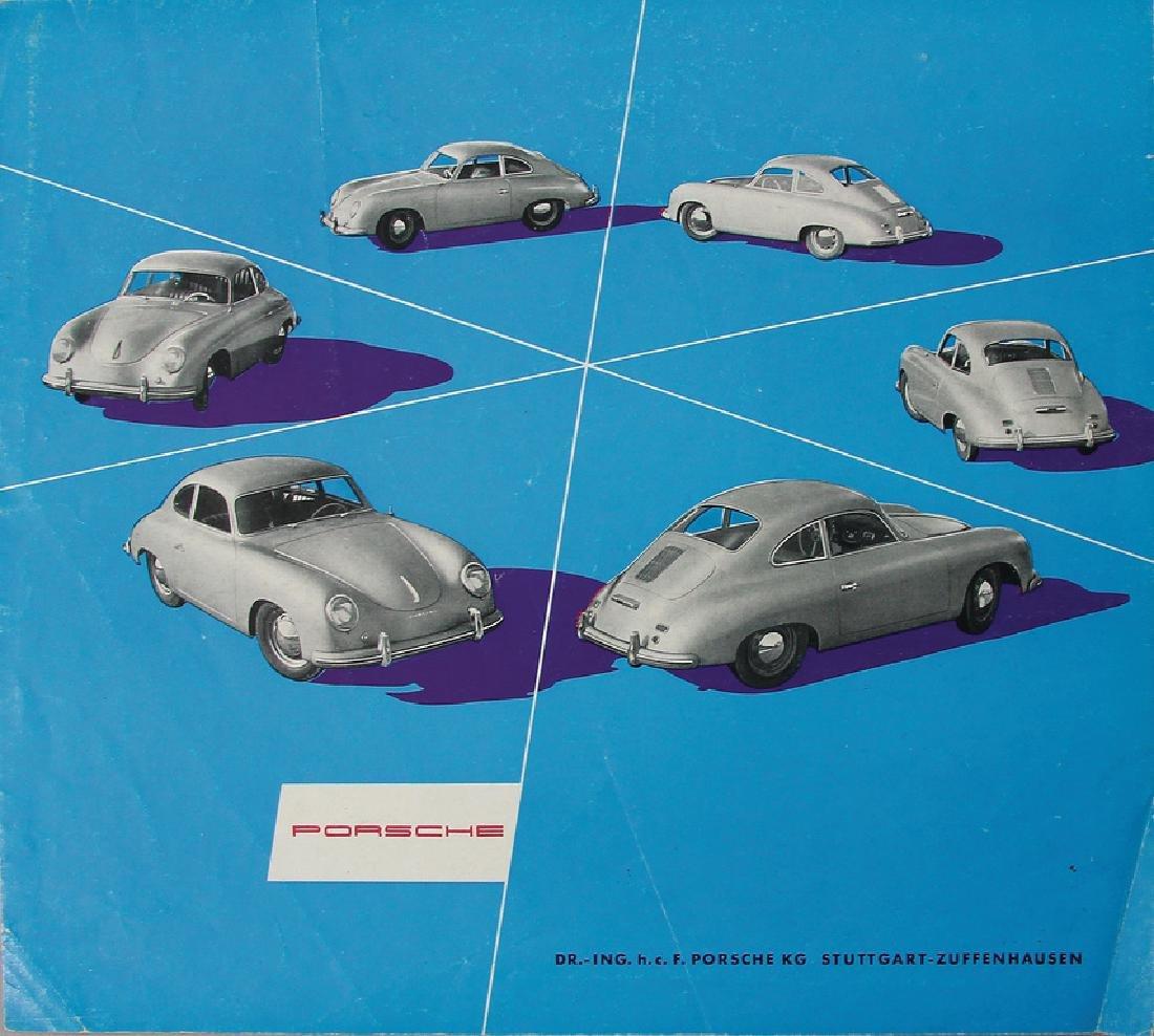 PORSCHE Germany 1953, fold-out brochure Porsche type