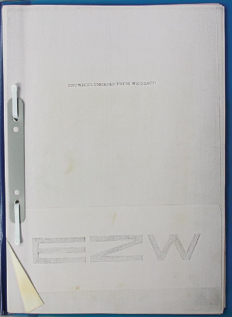 PORSCHE folder development center Weissach, 54 pages