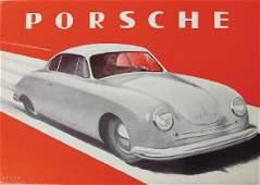 PORSCHE 1948/49, fold-out brochure Porsche type 356