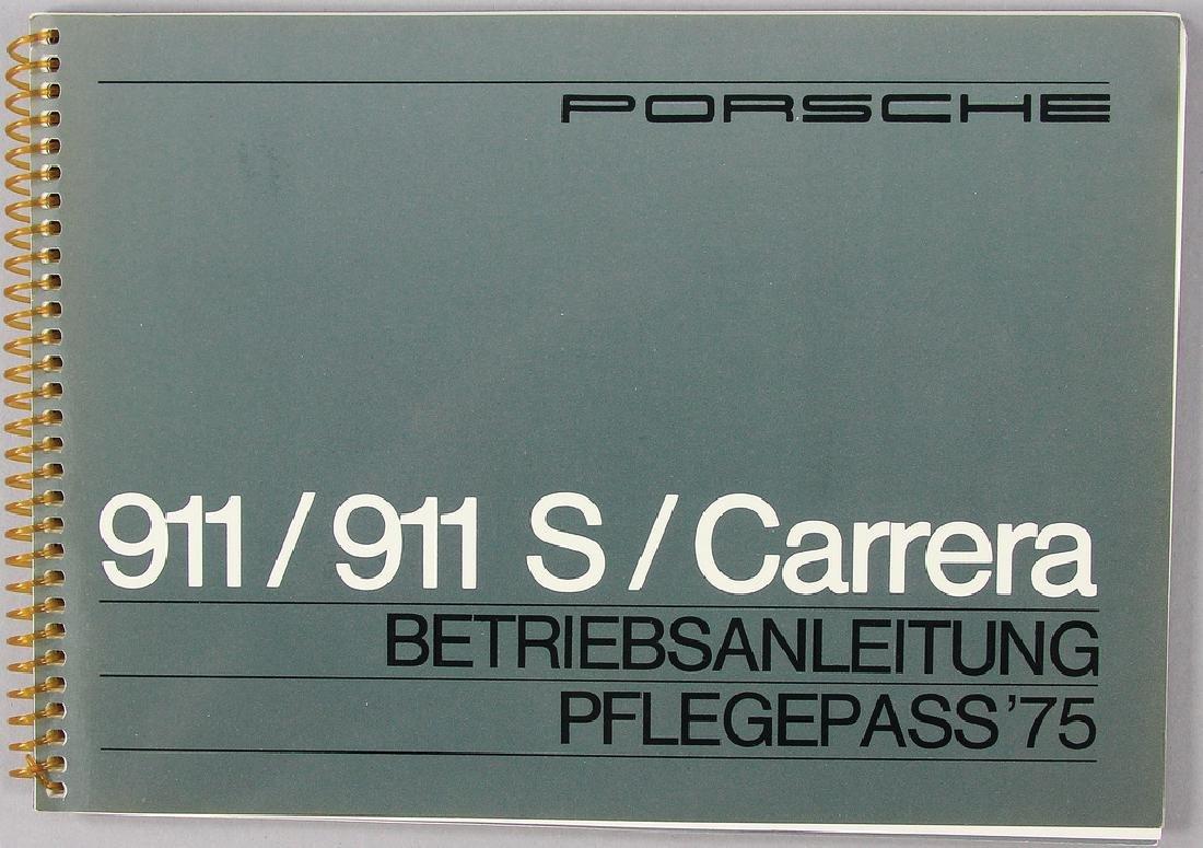 PORSCHE operating instruction issue 1975, Porsche