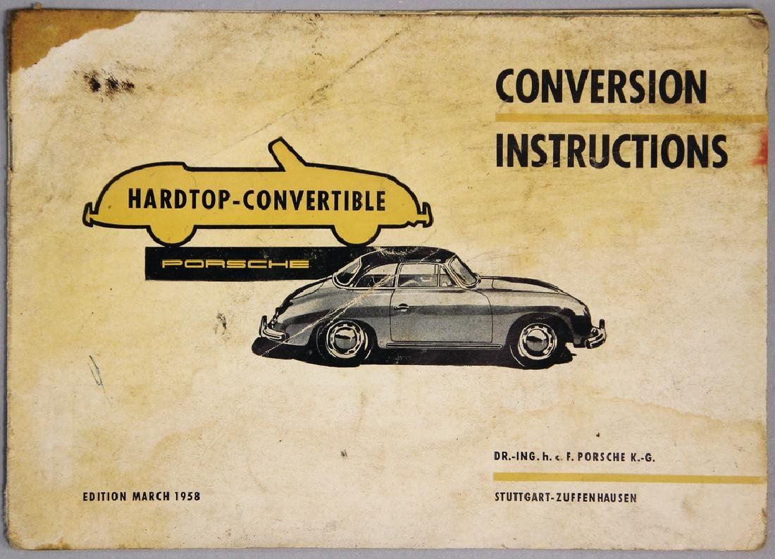 PORSCHE modification instructions for the hardtop