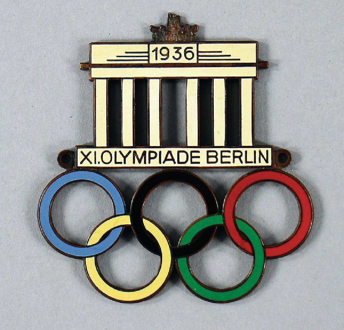 badge the 11th Olympiad in Berlin from 1936 height 7.5
