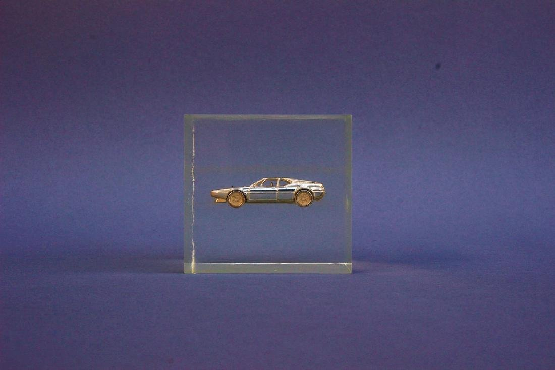 BMW acrylic cube made as unique specimen, BMW M1 in