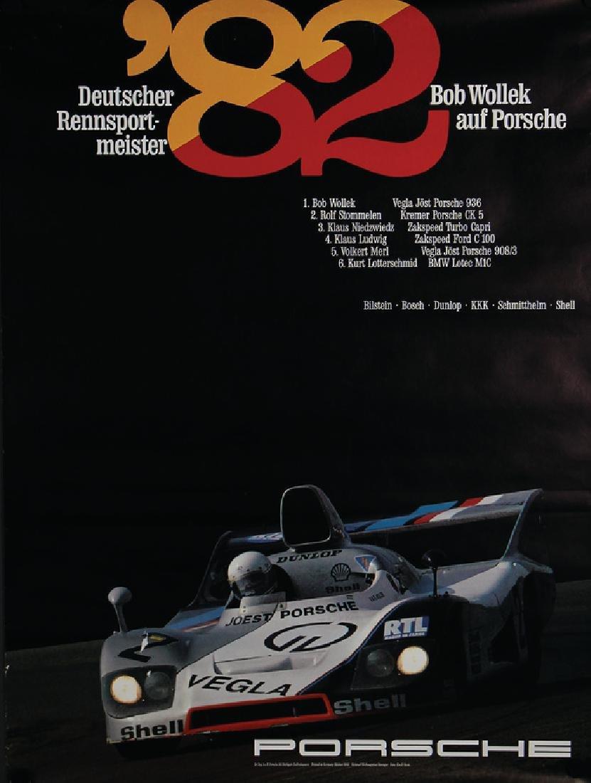 PORSCHE Germany October 1982, racing poster German