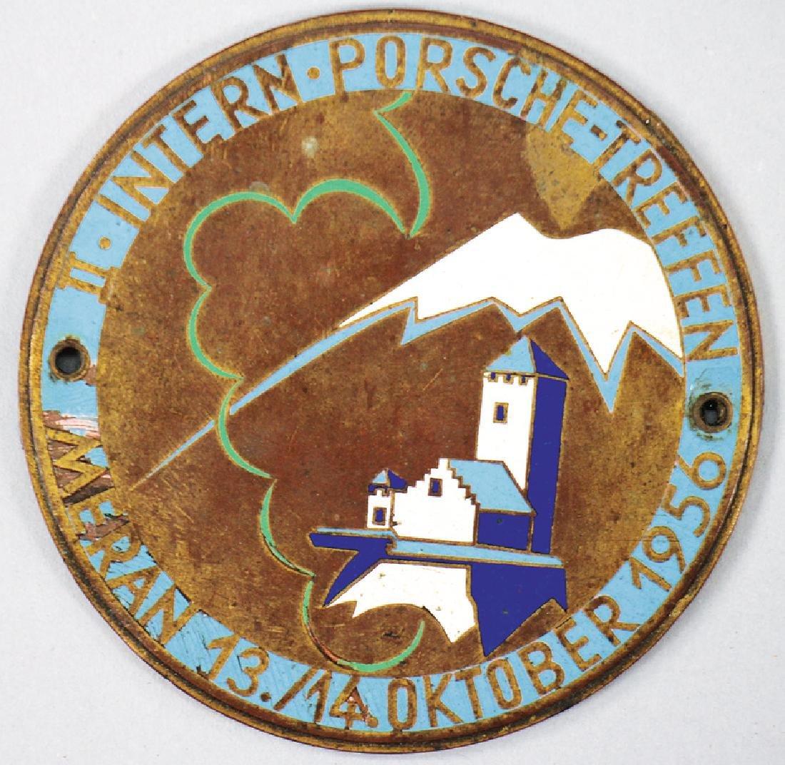 PORSCHE badge second international Porsche meeting