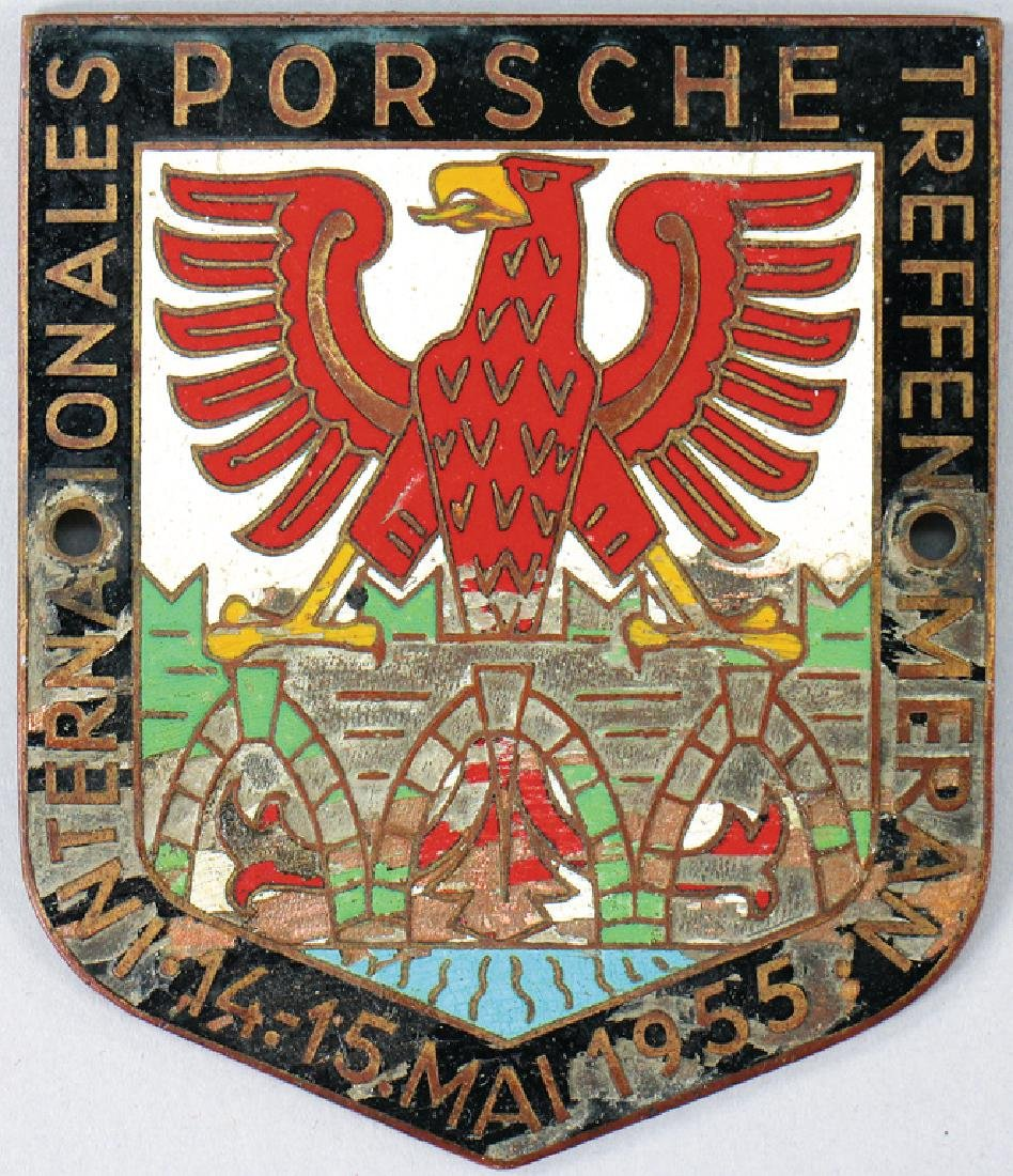 PORSCHE badge international Porsche meeting Meran 1955,