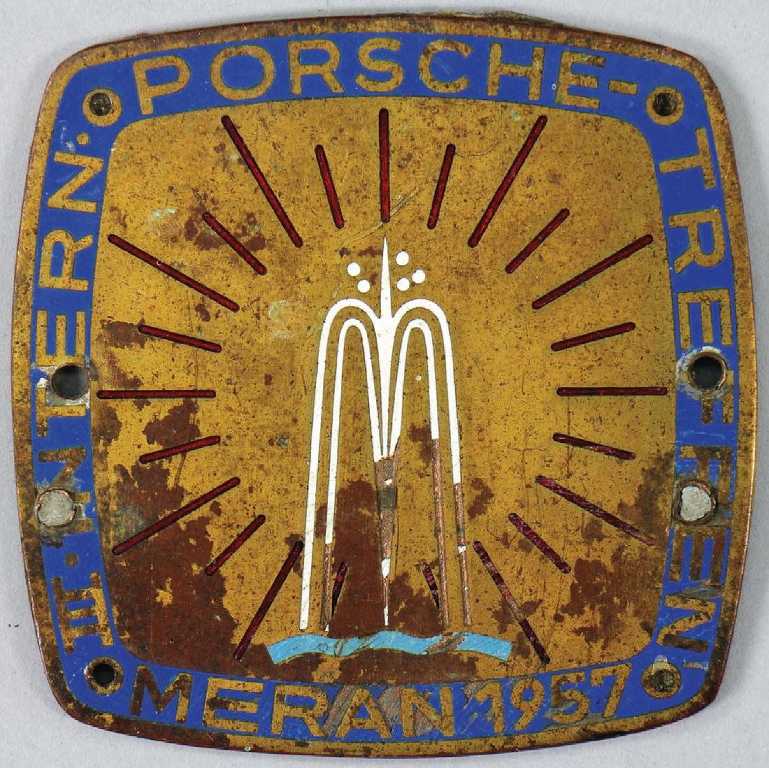 PORSCHE badge international Porsche meeting Meran 1957