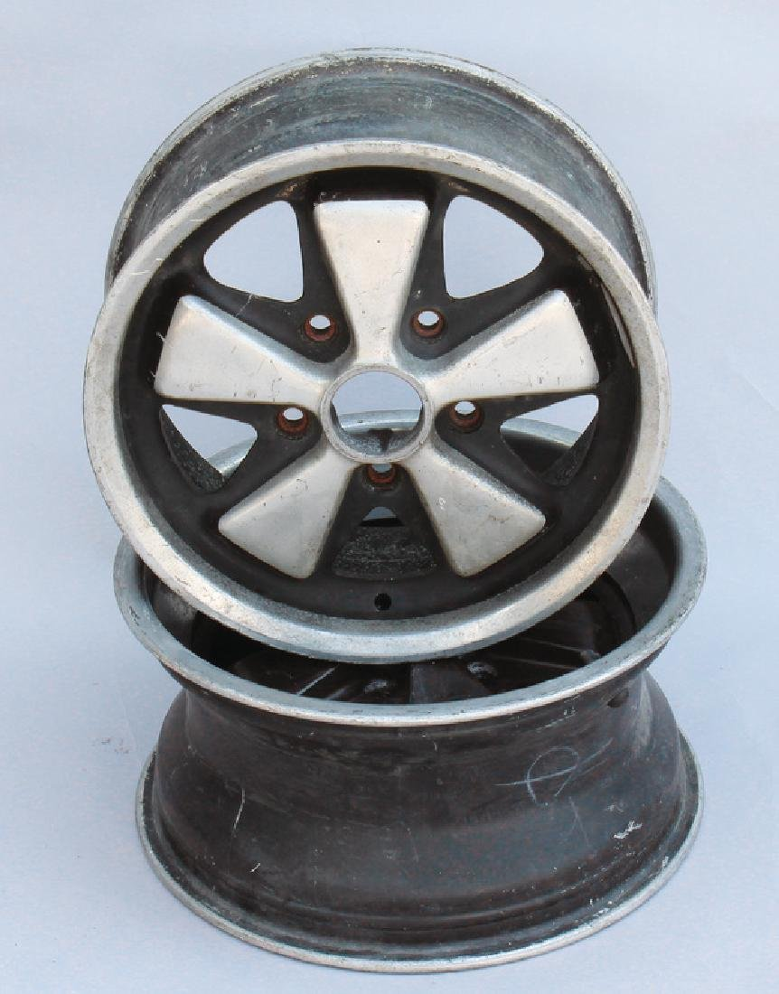 PORSCHE 2 rims in Fuchs-rim stylw, without manufacturer