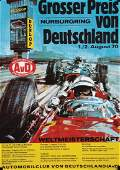 racing poster Grand Prix of Germany 1970 on the