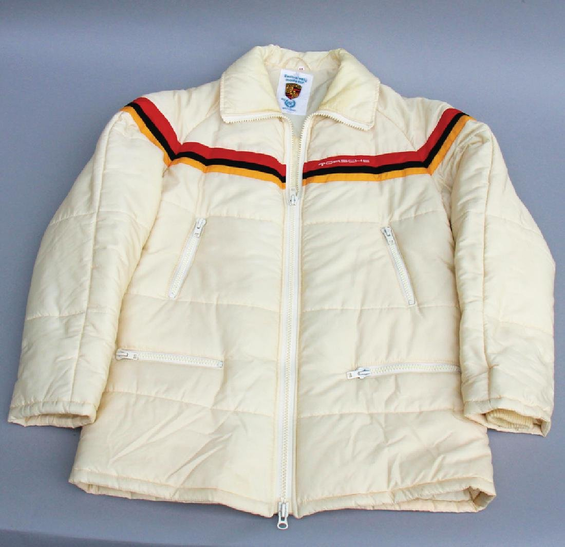 PORSCHE feather down jacket/team jacket, c. '80s/'90s,