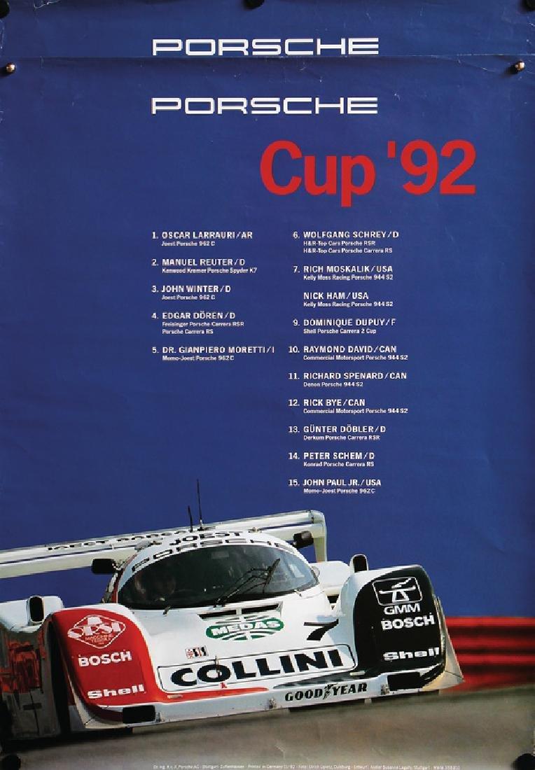 PORSCHE 2 racing posters Porsche Cup 1992, on it