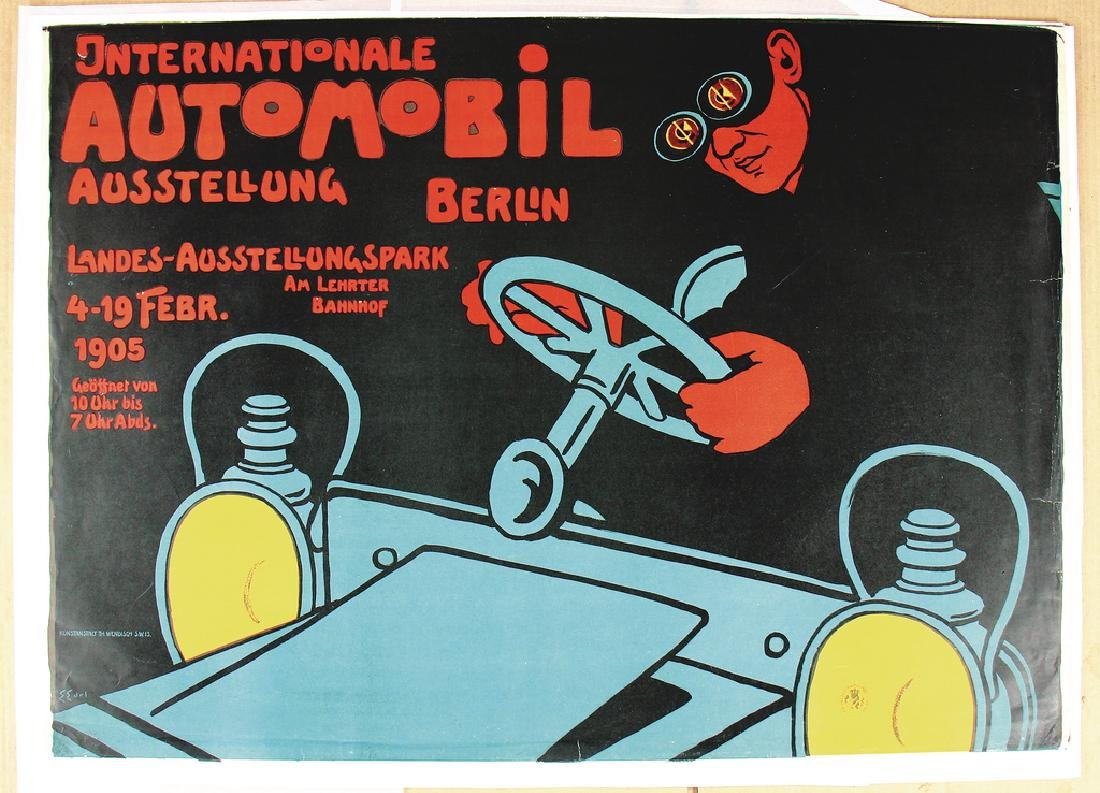 INTERNATONAL AUTOMOBILE EXHIBITION BERLIN poster