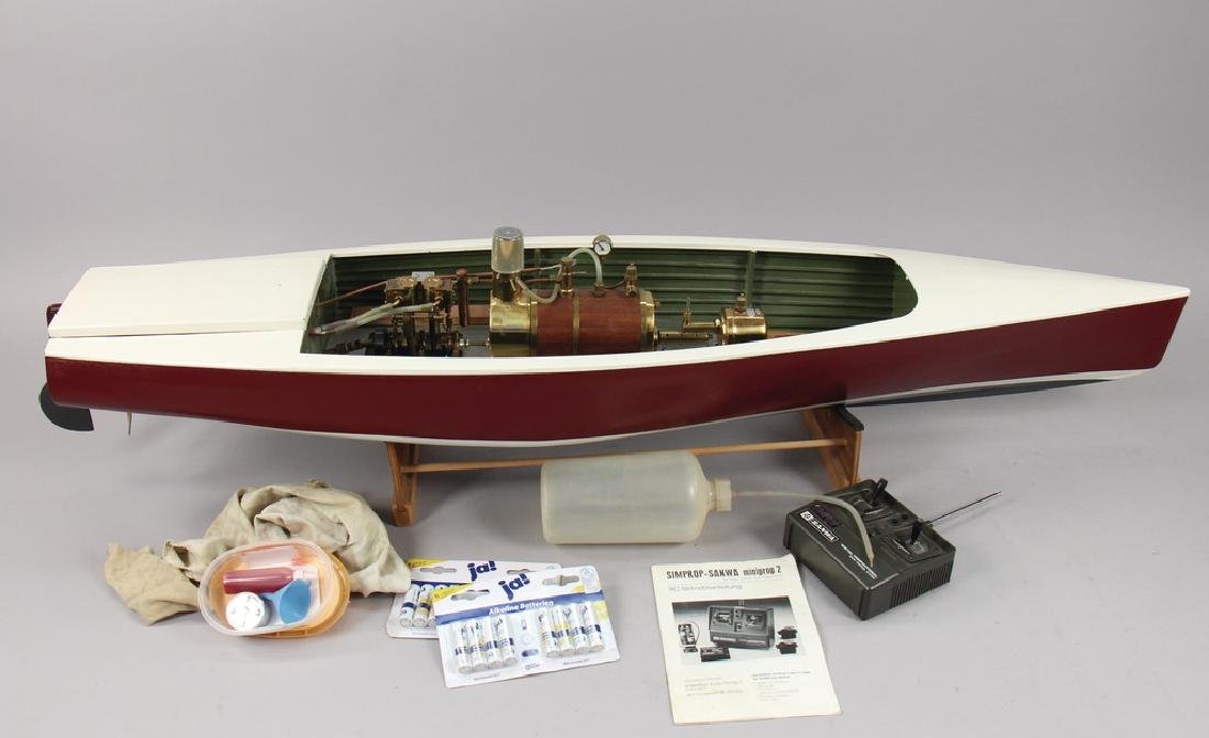a remote-controlled steamship with steam function with