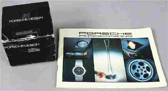 PORSCHE Porsche design clock, in original packing with