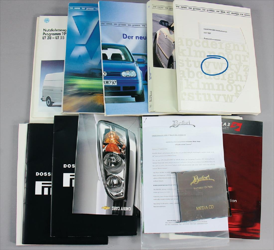 many press kits by the manufacturer Skoda,