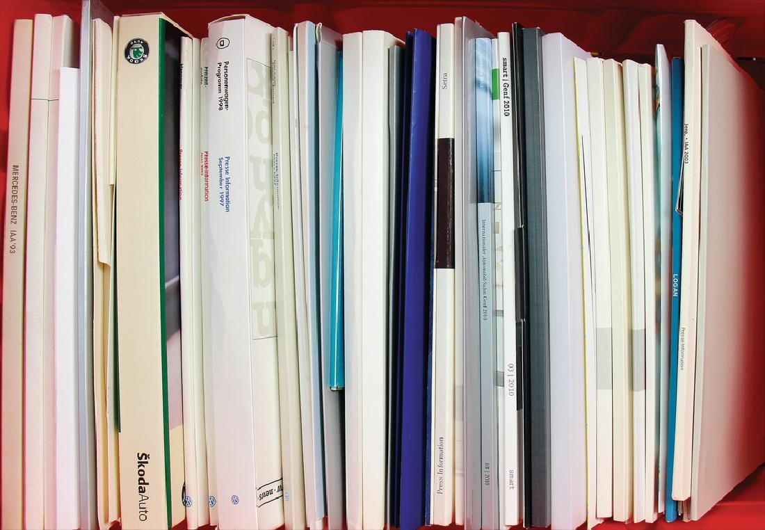 many press kits by the manufacturer Skoda, - 2