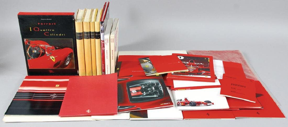 FERRARI mixed lot with 28 pieces, among them press kits