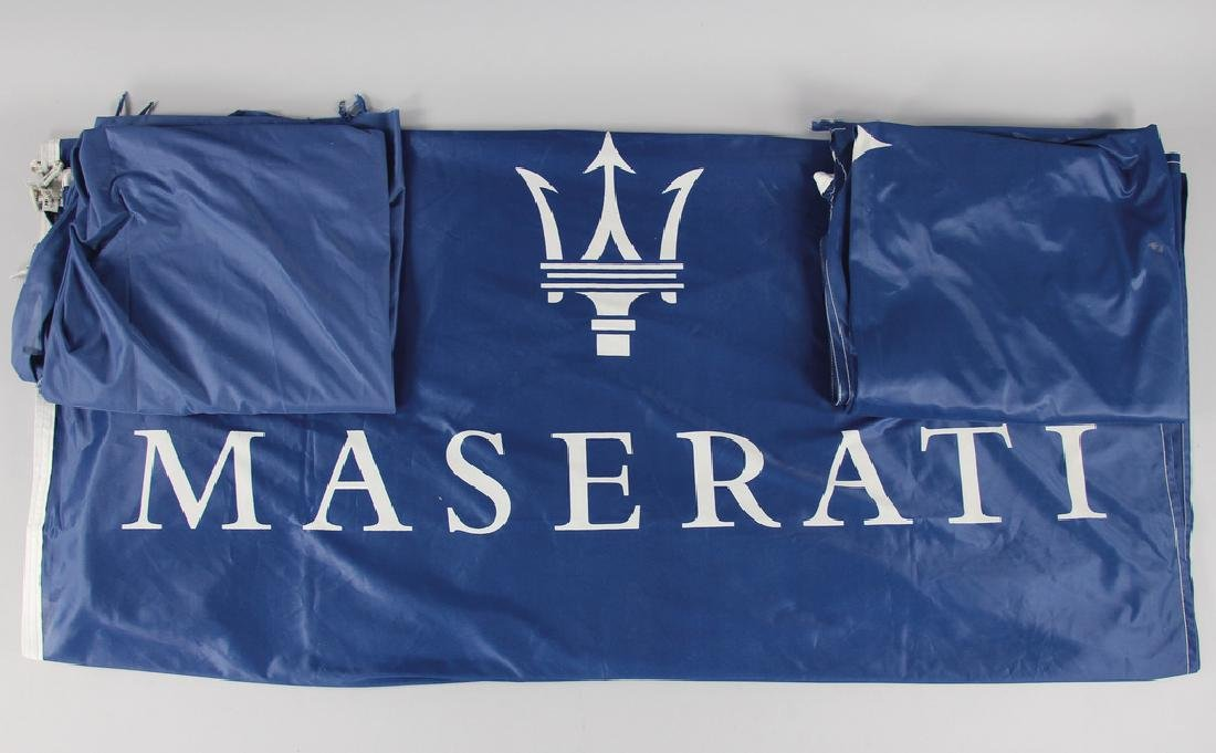 MASERATI mixed lot with 3 pieces, dealer flags, all