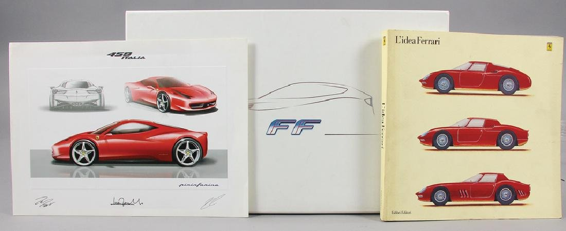 FERRARI mixed lot with 4 pieces, consists of the book