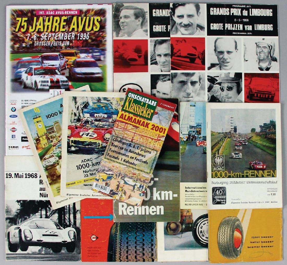 mixed lot with 13 pieces, programmes, among it ADAC