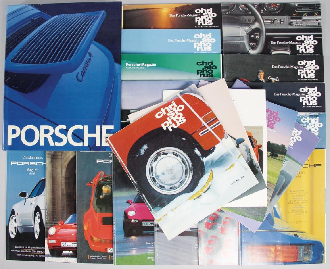 PORSCHE mixed lot with 22 pieces, consists of the