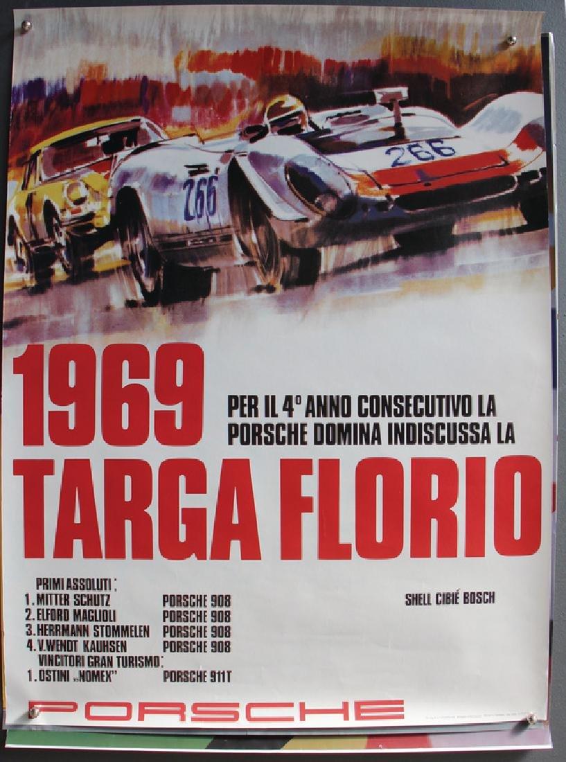 PORSCHE mixed lot of 6 racing posters, among it Porsche