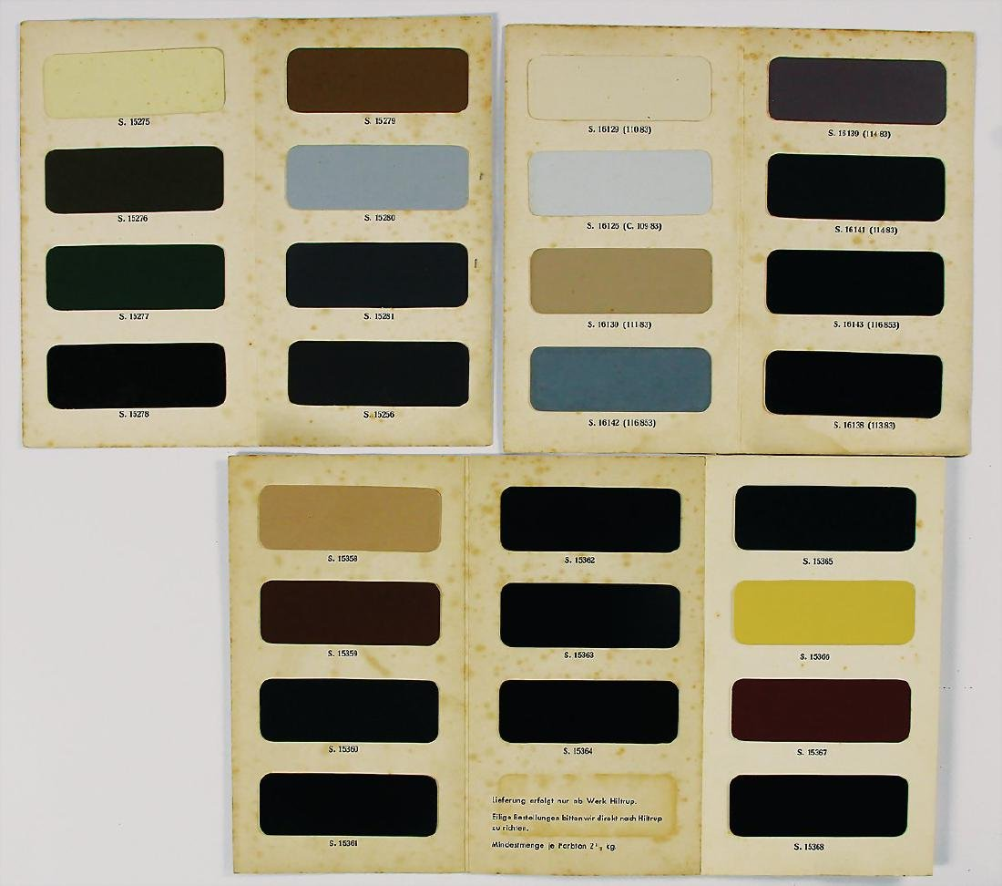 GLASURIT/HORCH mixed lot 3x color charts with all in - 2