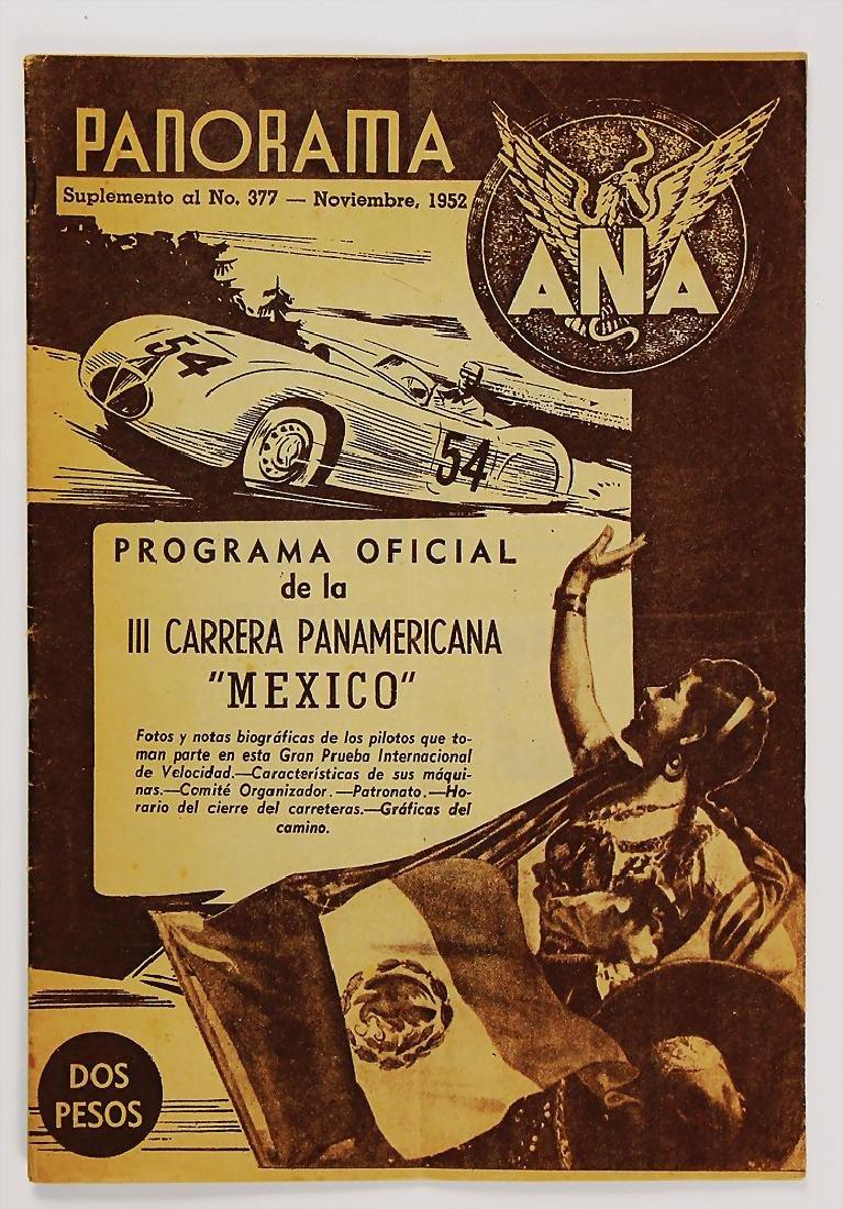 CARRERA PANAMERICANA MEXICO programme booklet 1952, III