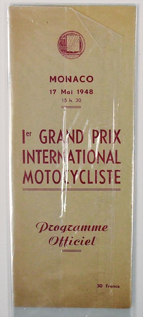 racing programme 1st Grand Prix of Monaco for