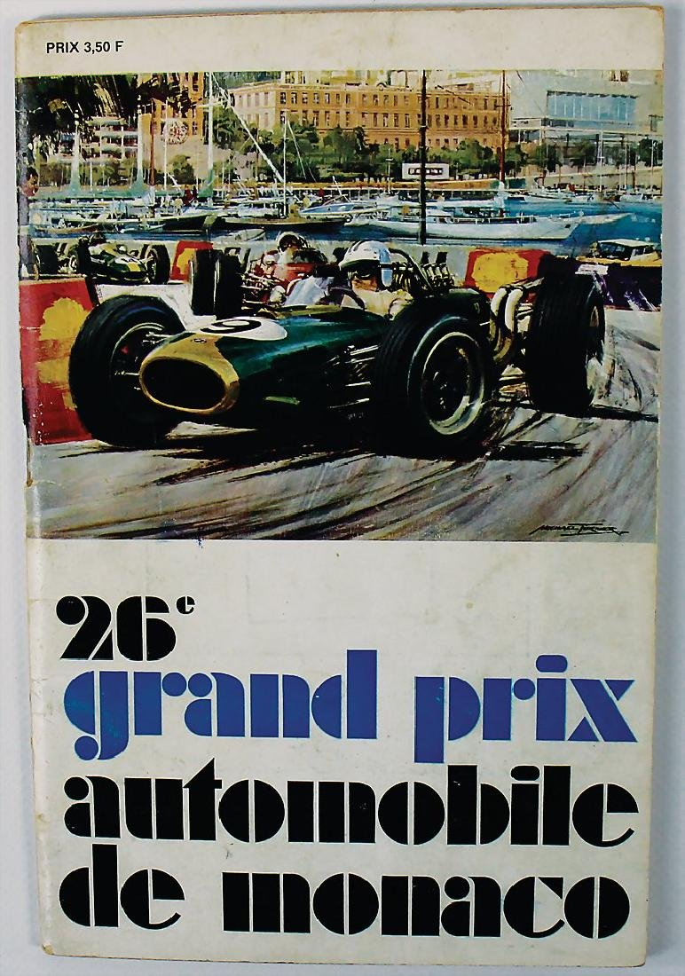 racing programme Grand Prix de Monaco 1968, handwritten
