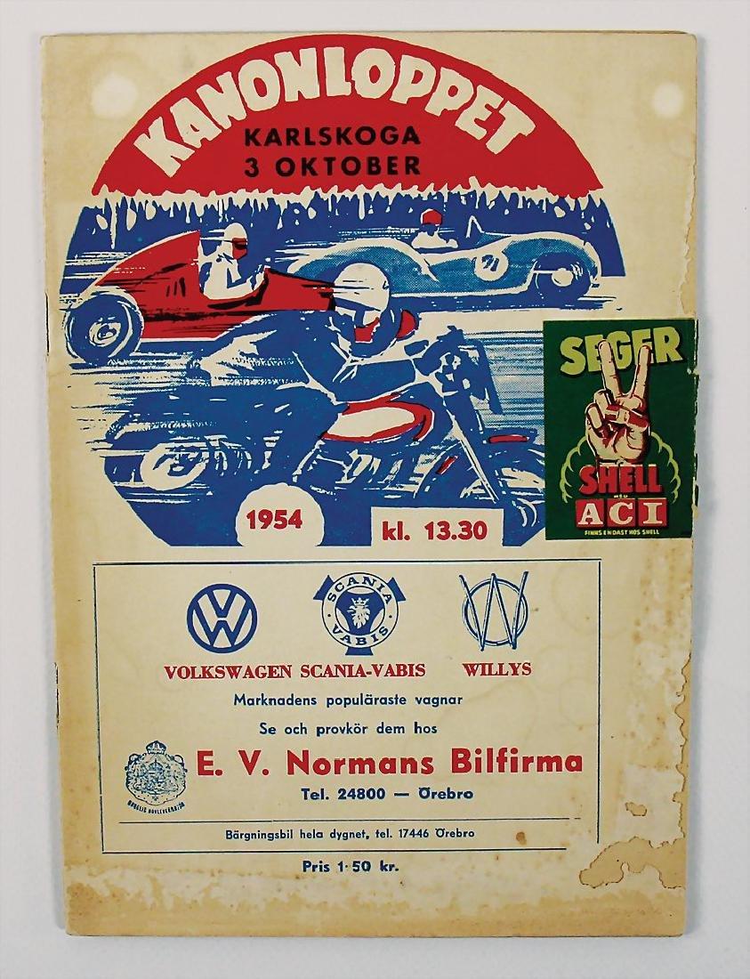 racing programme Kanonloppet 1954 Gellerasbanan