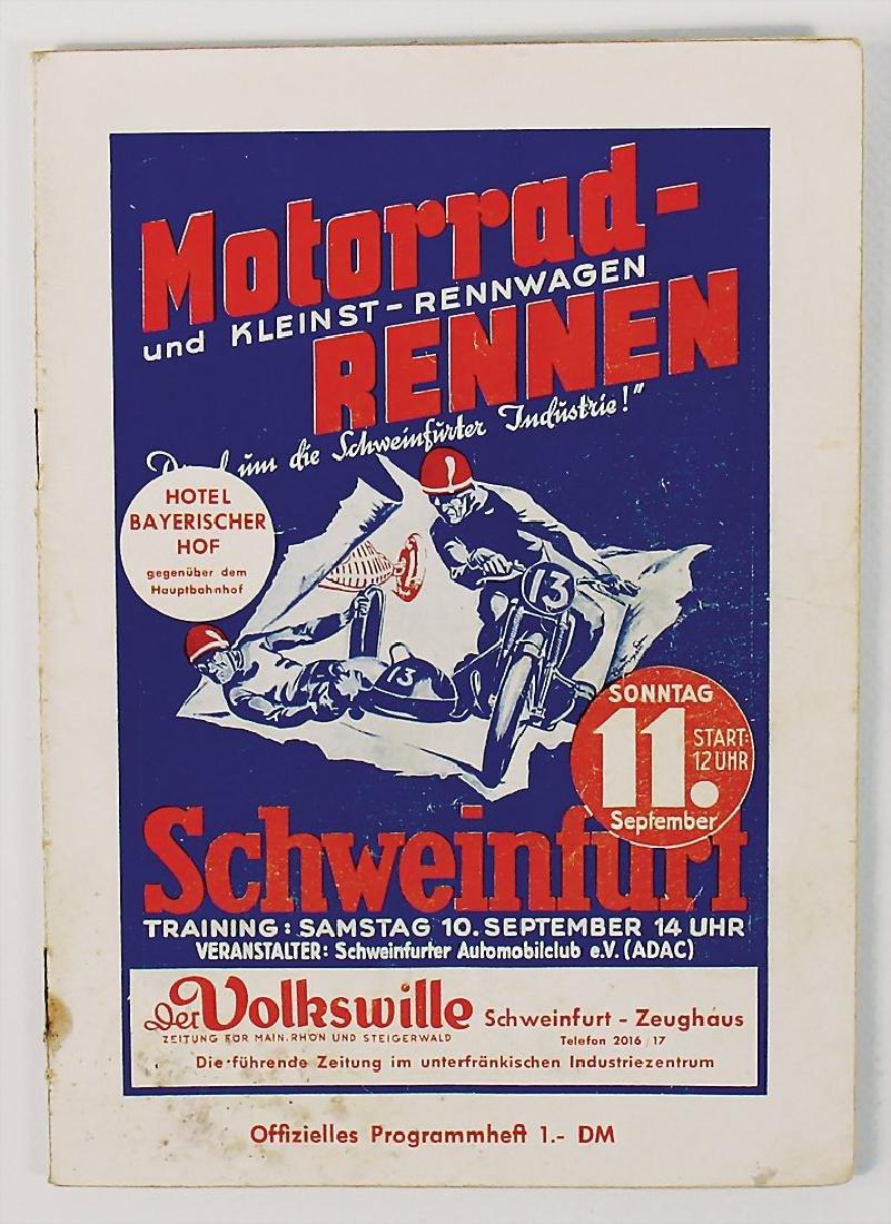 racing programme motorbike and small racing car race