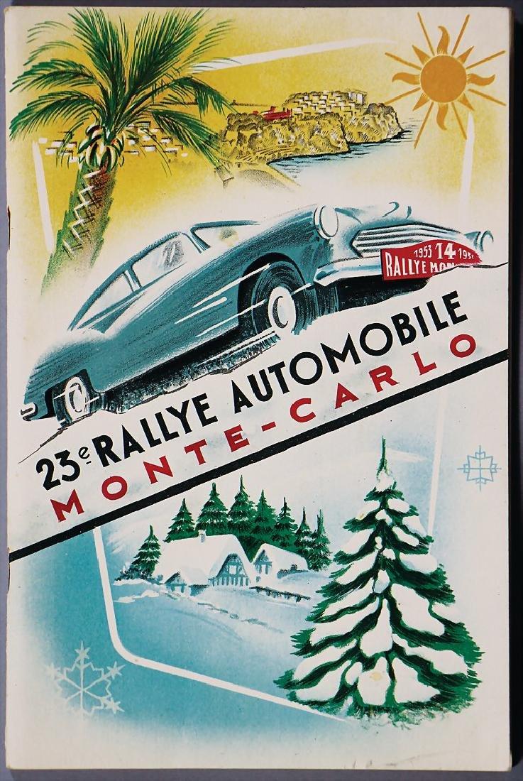 racing programme 23rd Rallye Automobile Monte Carlo