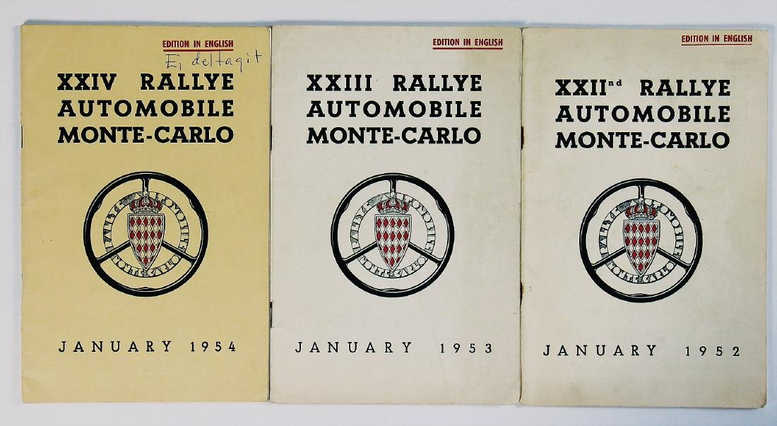 mixed lot with 3 pieces, rule booklets of the Rallye