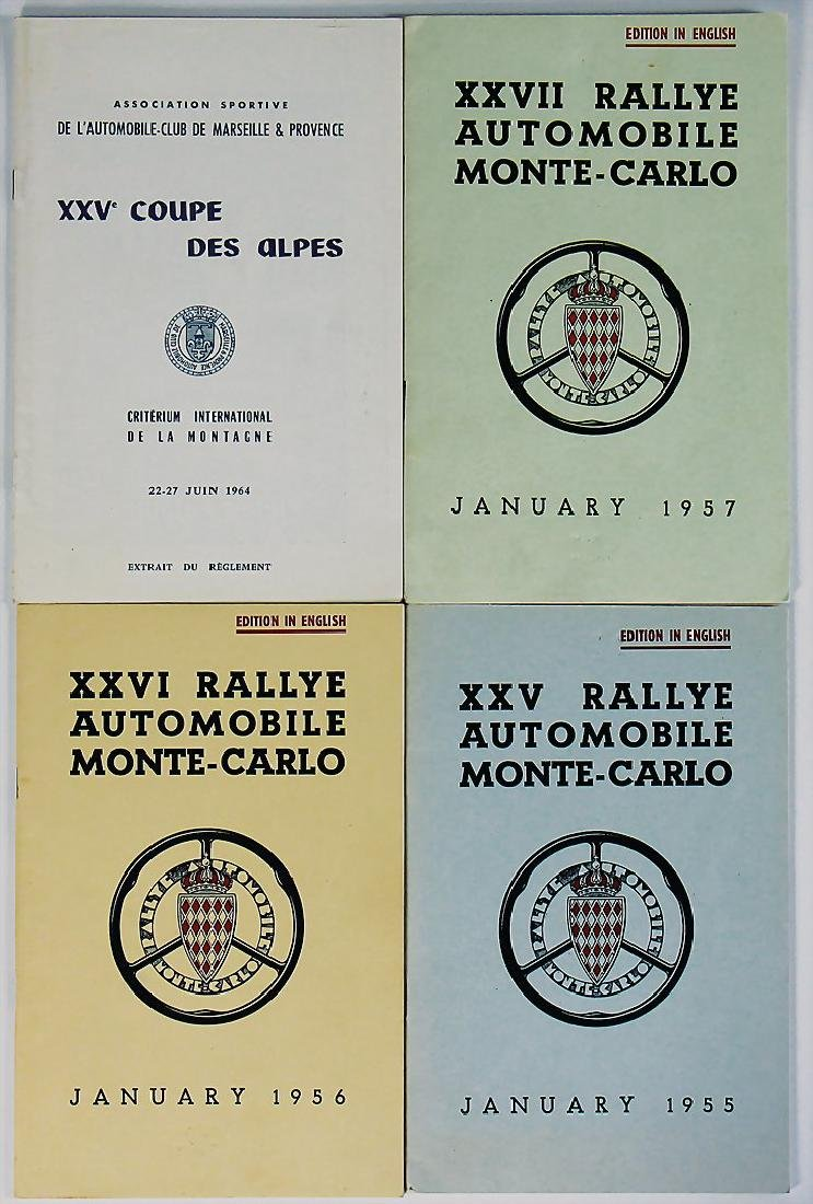 mixed lot of 3 pieces, regulations booklets Rallye