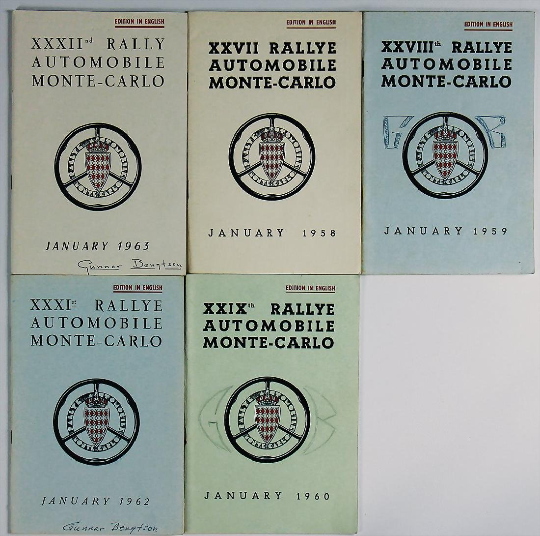 mixed lot with 5 pieces, rules booklets Rallye