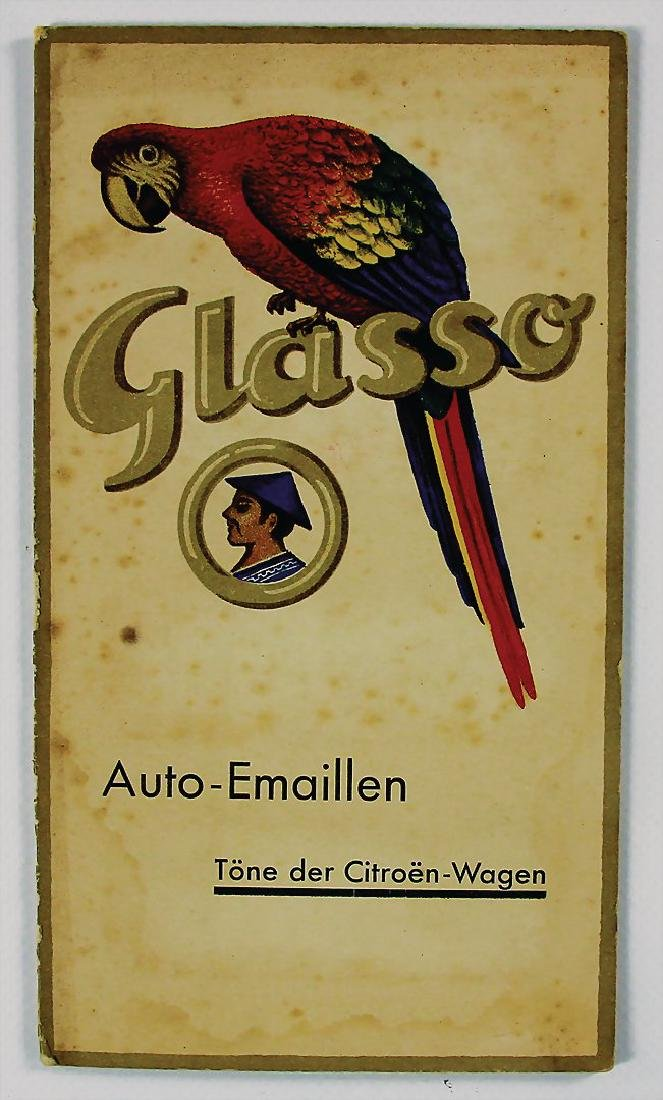 CITROEN/GLASURIT WERKE fold-out brochure colour sample