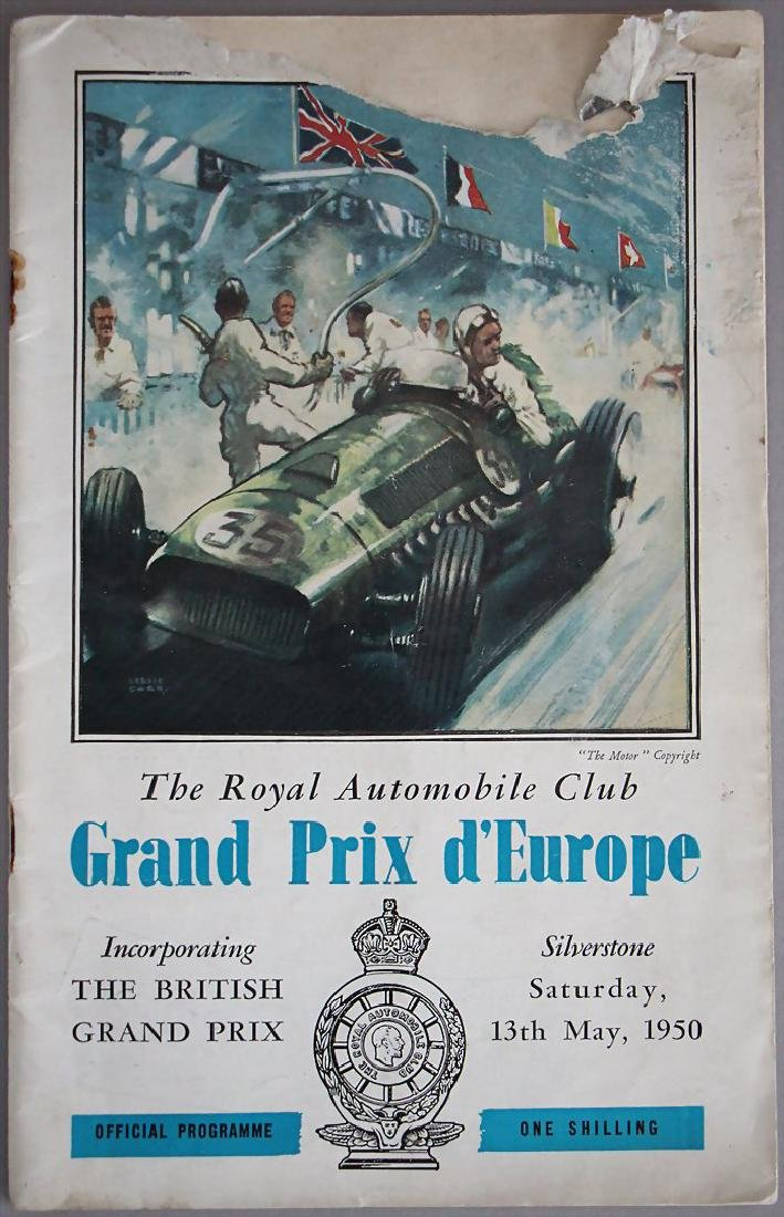 """programme booklet Grand Prix d´Europe """"The British"""