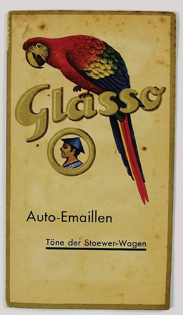 STOEWER/GLASURIT fold-out brochure car-enamel with 8