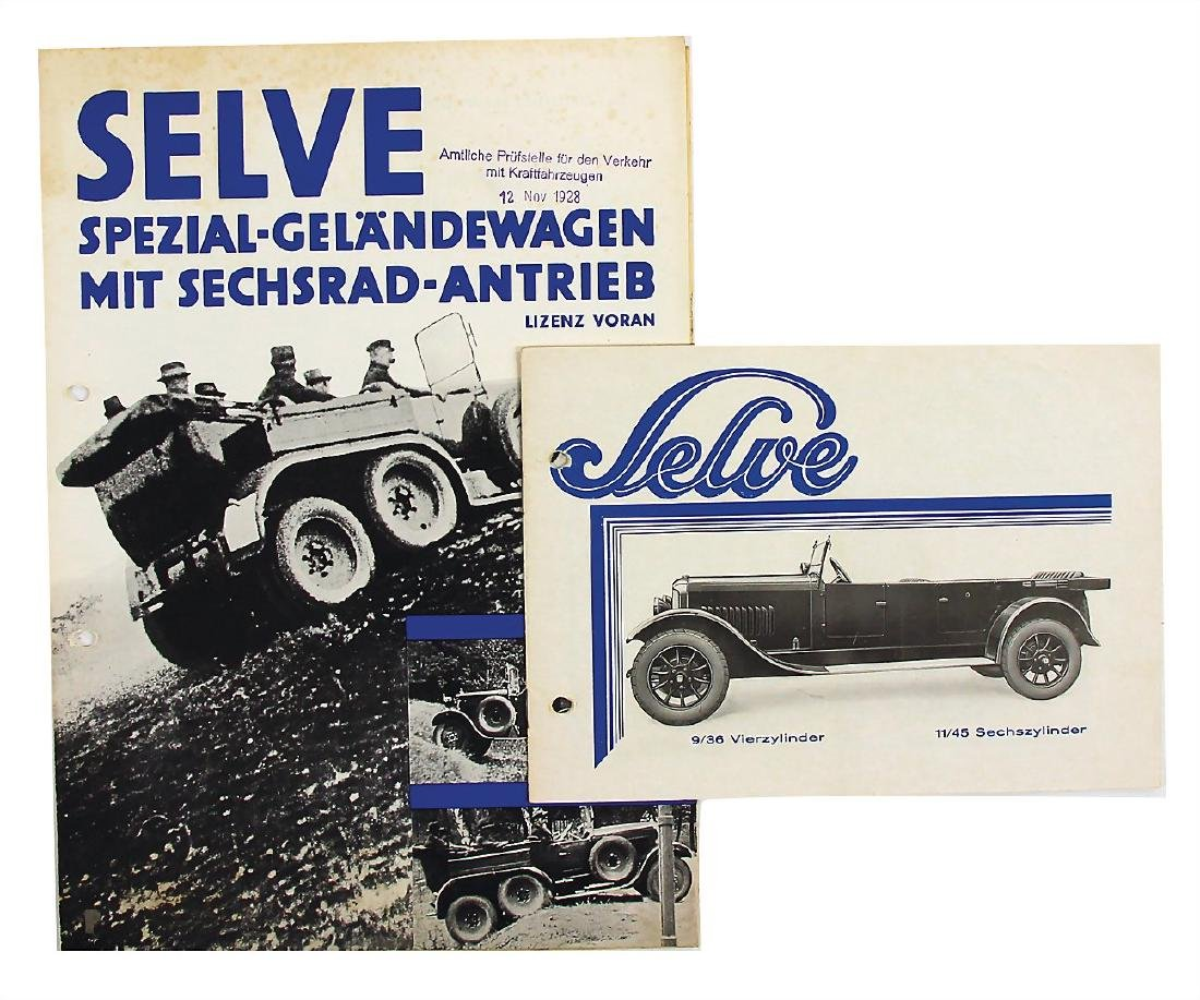 SELVE sales brochure Selve 9/36 HP four-cylinder and