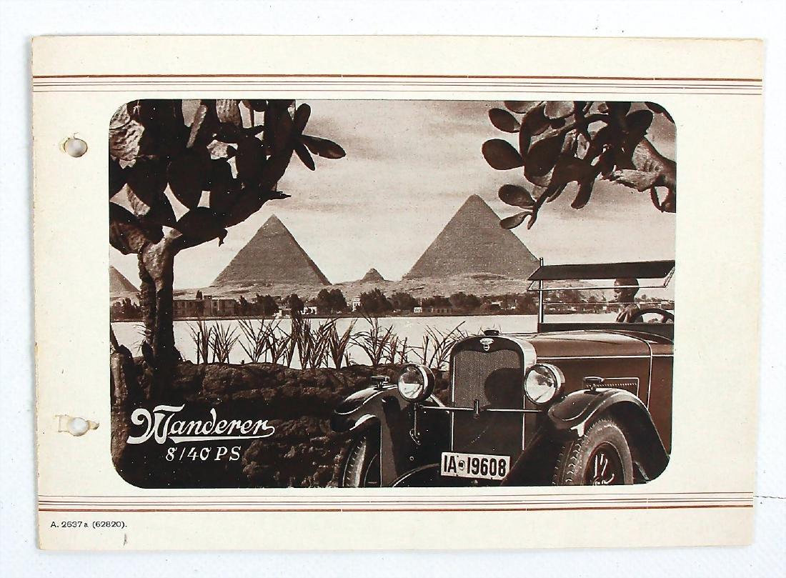 WANDERER Germany 1926, sales catalog Wanderer 8/40 HP