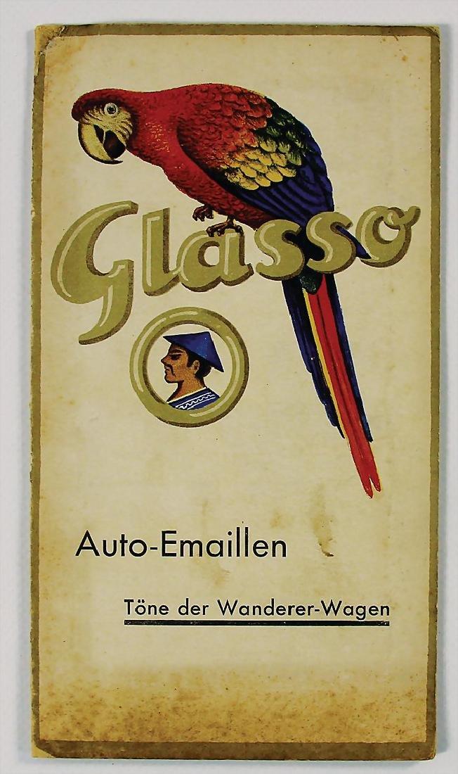 WANDERER/ GLASURIT car enamel paint sample card with