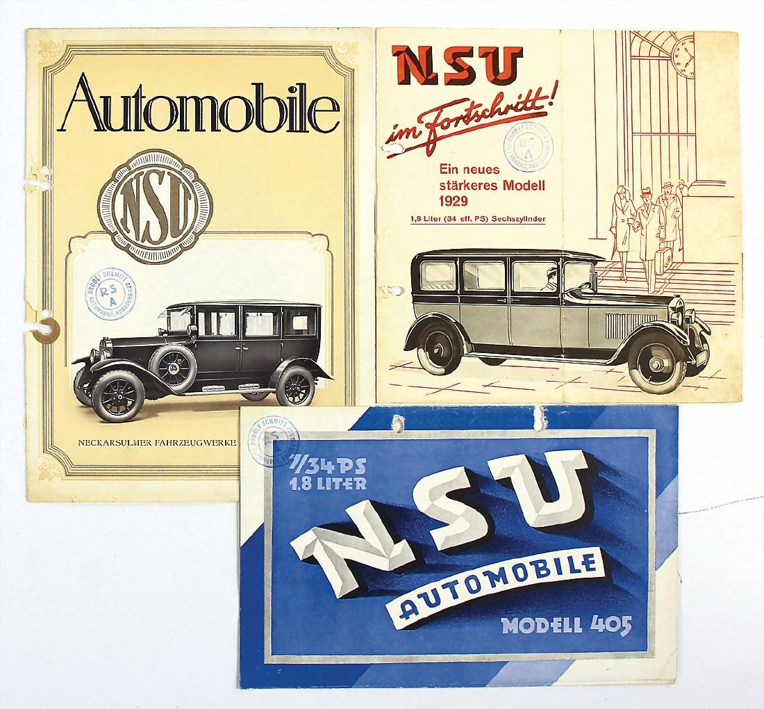 NSU mixed lot with 3 pieces, sales brochures , No. 1: