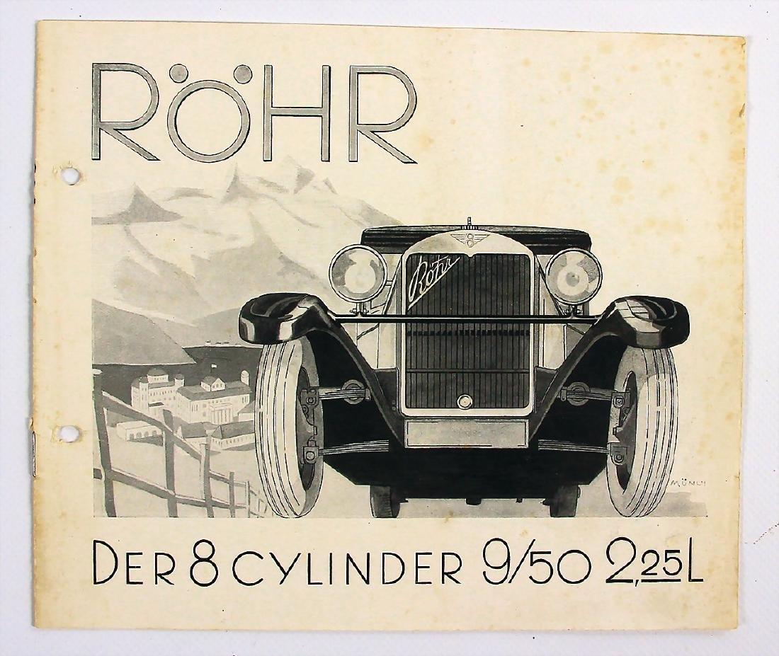 RÖHR sales catalog the eight-cylinder 9/50 HP, 12