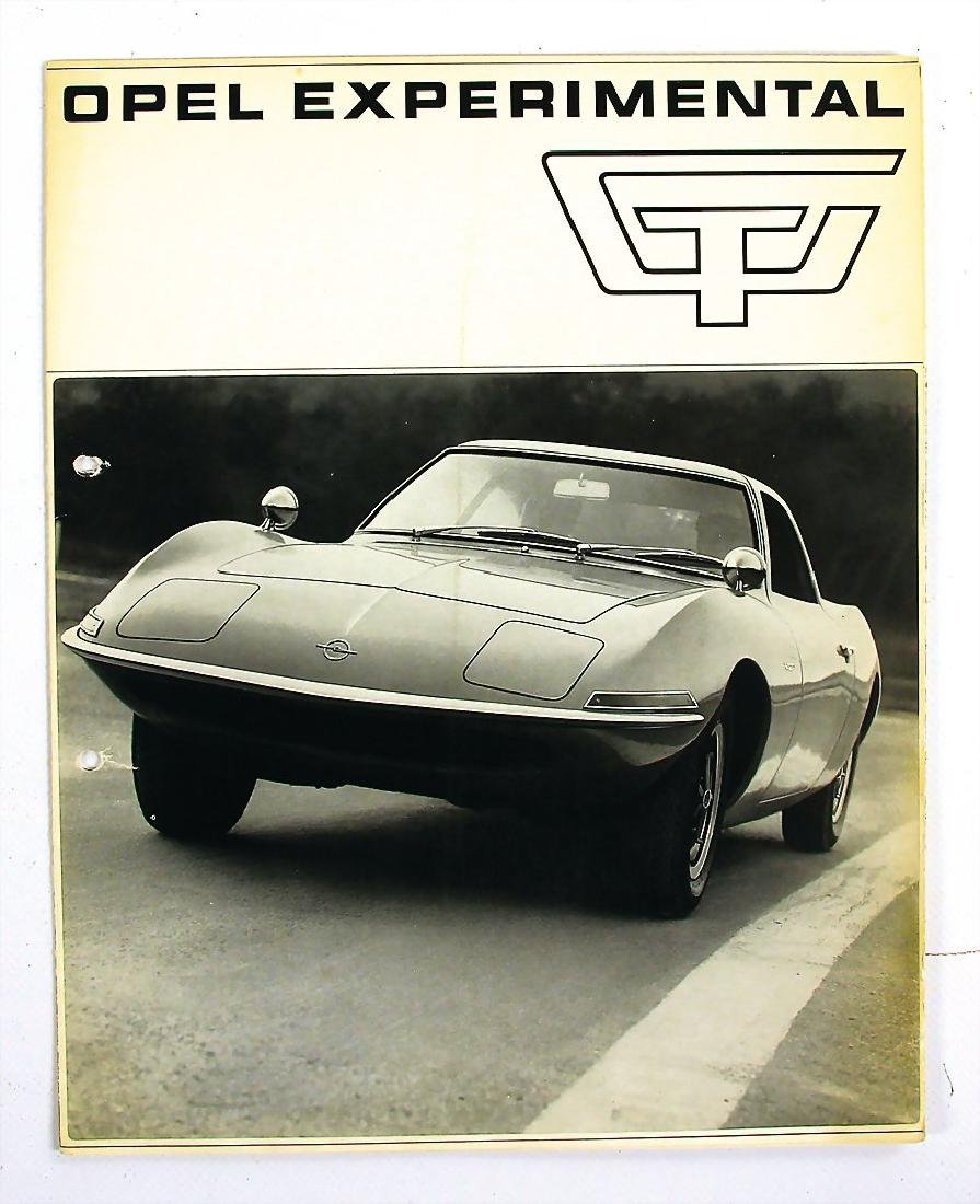 OPEL fold-out brochure Opel experimental GT, 6 pages,