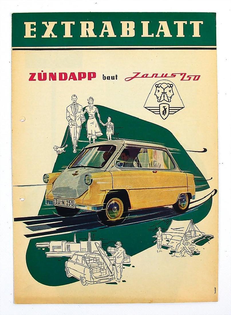 ZÜNDAPP fold-out brochure Zündapp Janus 250, 8 pages,