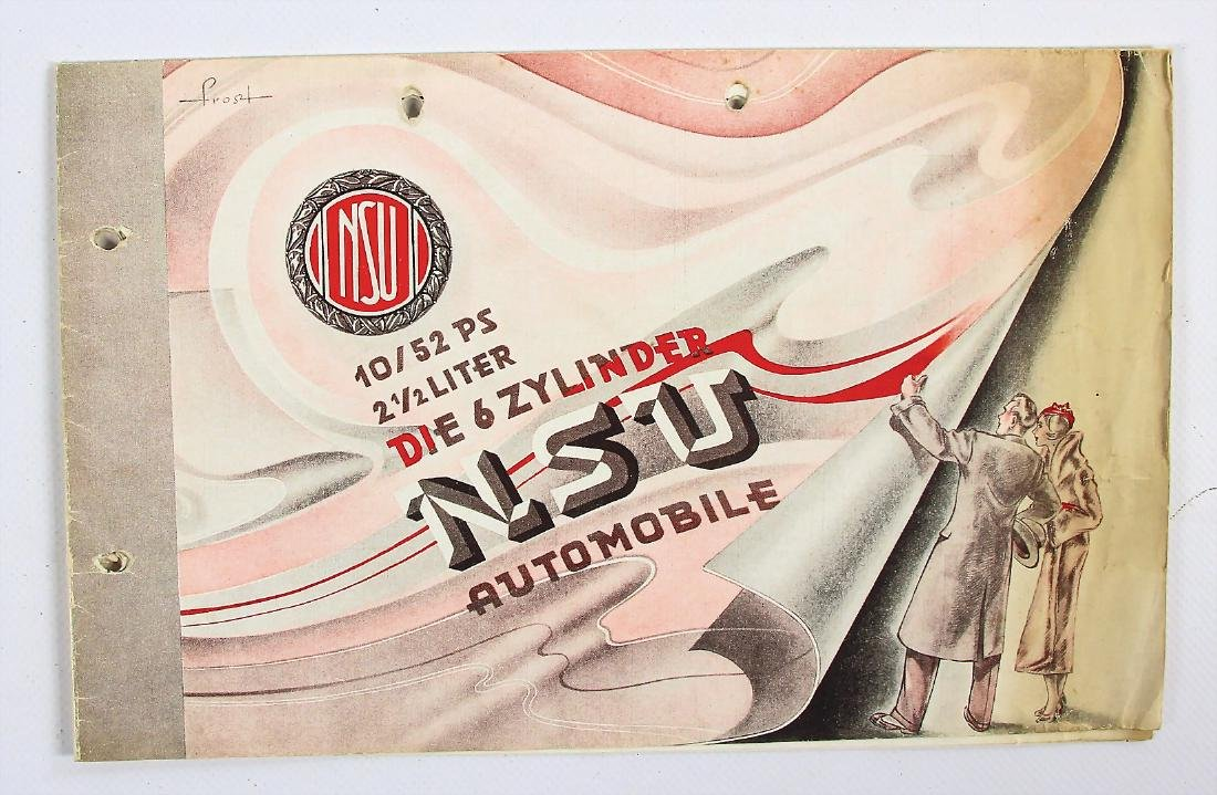 "NSU fold-out brochure ""Die Sechszylinder NSU Automobile"